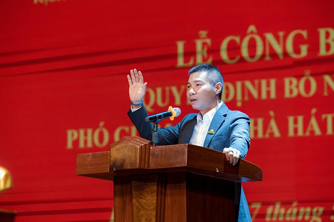 NSND Công Lý phát biểu trong lễ nhậm chức