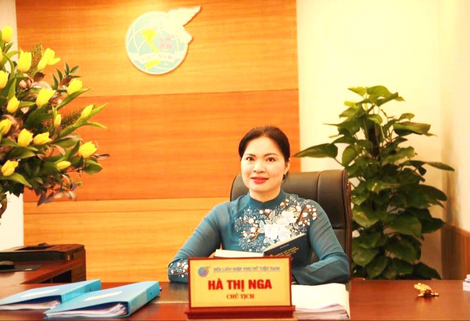Bà Hà Thị Nga - Tân Chủ tịch HLHPN Việt Nam