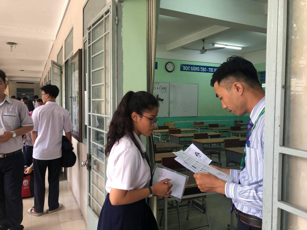 Thí sinh dự kỳ thi THPT quốc gia 2019