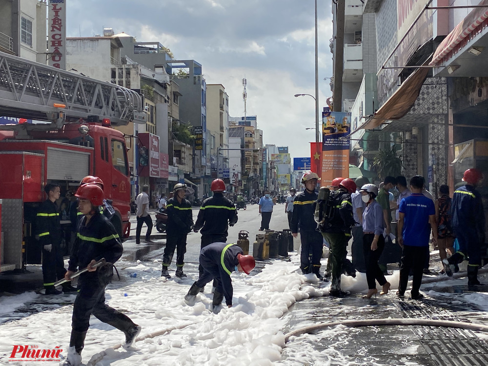 Lực lượng phòng cháy chữa cháy đã dập tắt được đám cháy