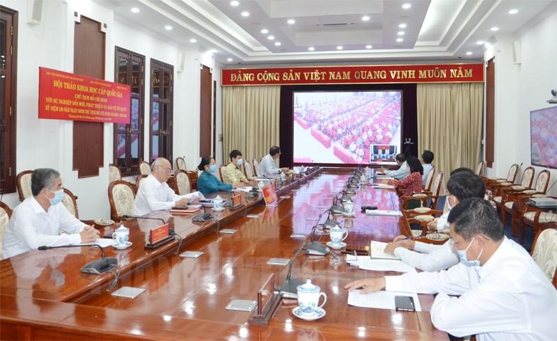 Các đại biểu tham dự tại điểm cầu TPHCM.