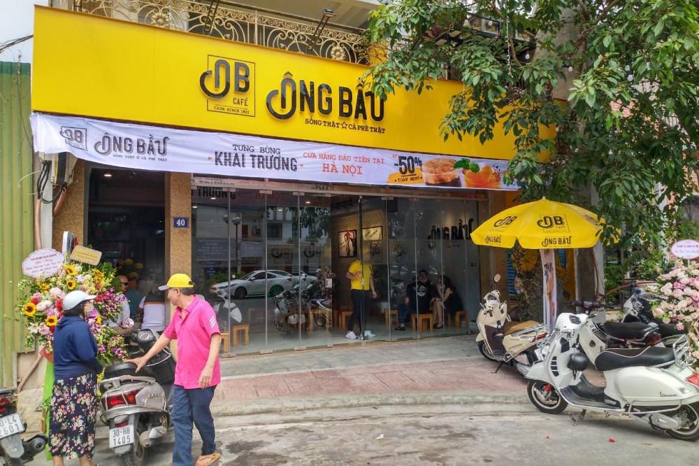 Cửa hàng cà phê Ông Bầu đầu tiên tại Hà Nội