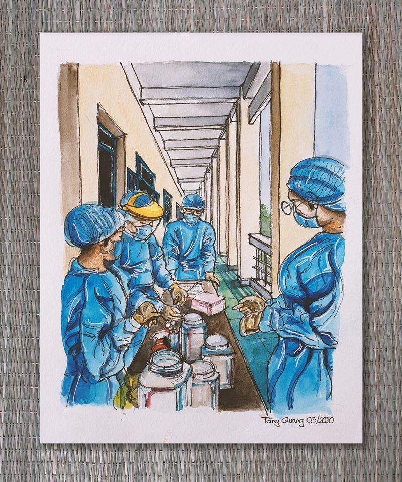 Ký họa của Tăng Quang