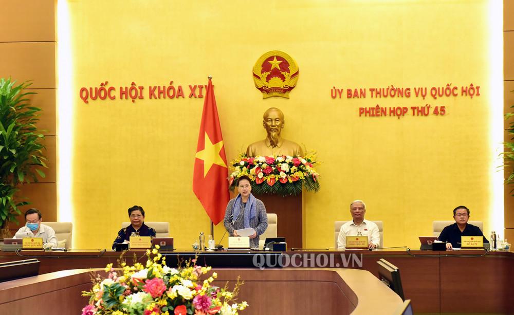 Ủy ban thường vụ Quốc hội khai mạc kỳ họp thứ 45.