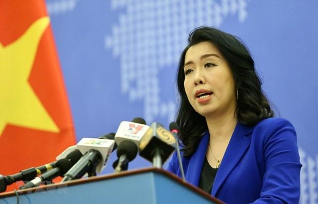 Người phát ngôn Bộ Ngoại giao Lê Thị Thu Hằng. (Ảnh: TTXVN)