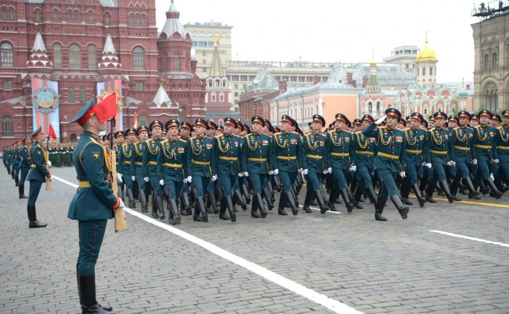 Lễ diễu binh nhân kỷ niệm Ngày Chiến thắng tại Quảng trường Đỏ ở thủ đô Moscow, Nga ngày 9/5/2019 - Ảnh: AFP/TTXVN