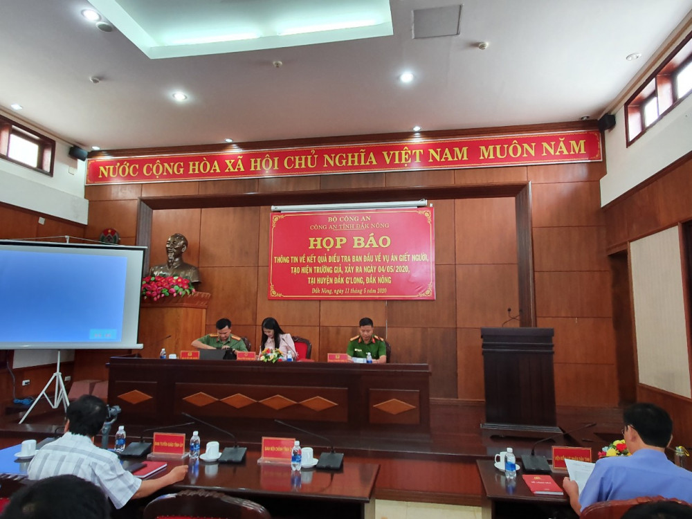 Công an tỉnh Đắk Nông tổ chức họp báo