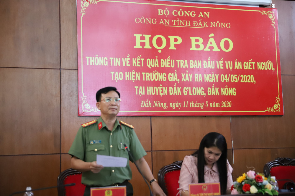 Công an Đắk Nông tổ chức họp báo cung cấp thông tin