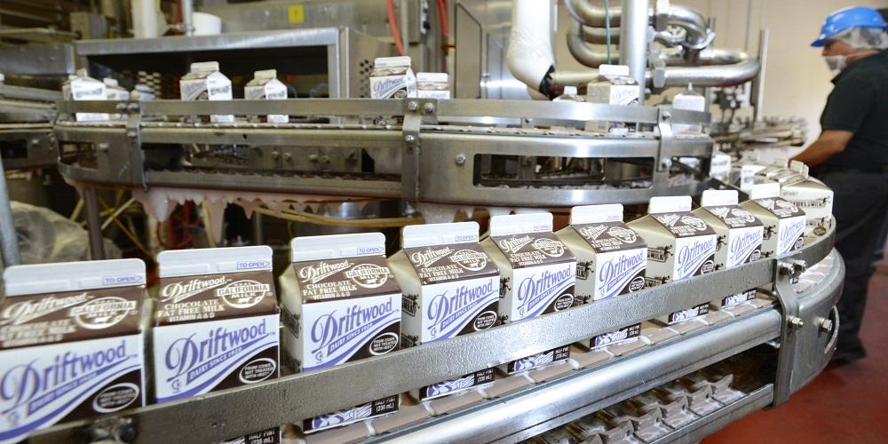 Dây chuyền sản xuất sữa tại Nhà máy Driftwood