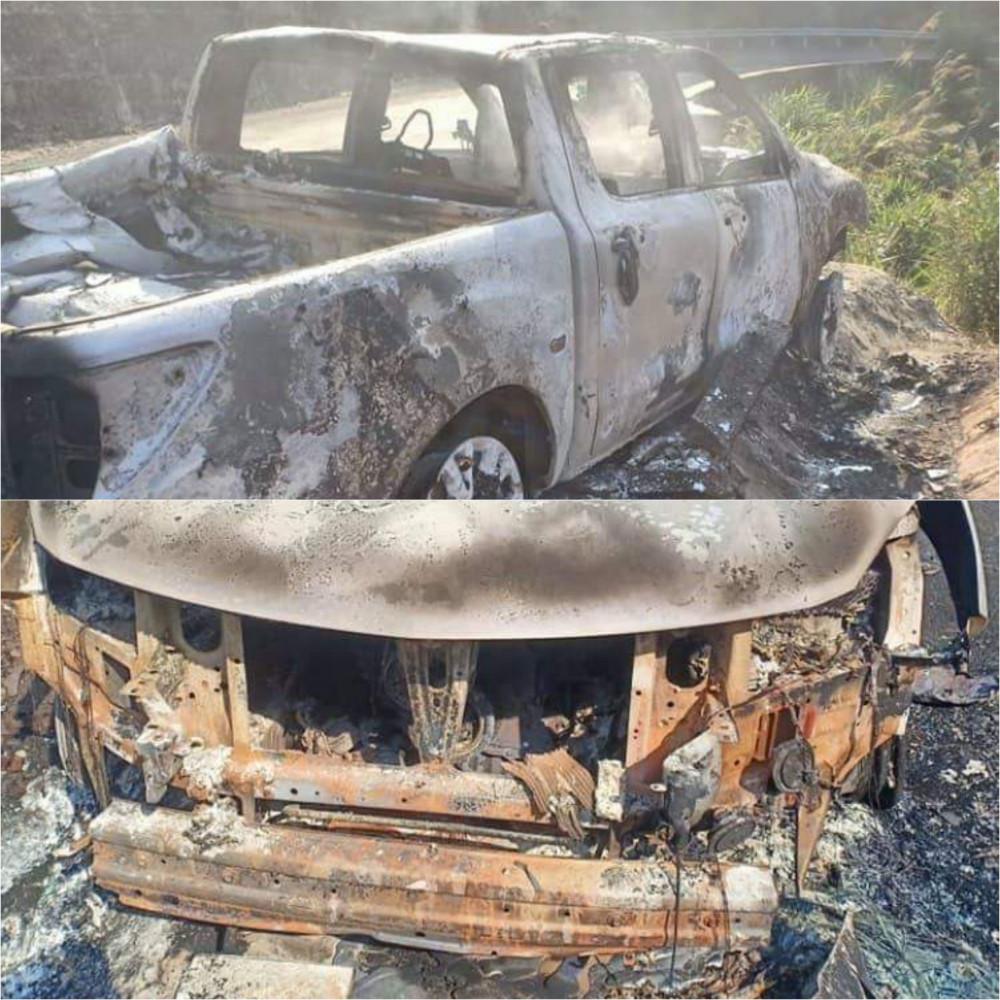 Hiện trường vụ cháy xe
