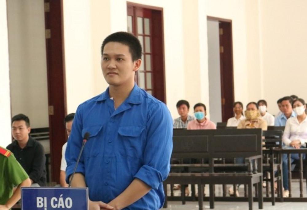 Bị cáo Phạm Lê Trọng Nhân tại phiên tòa xét xử