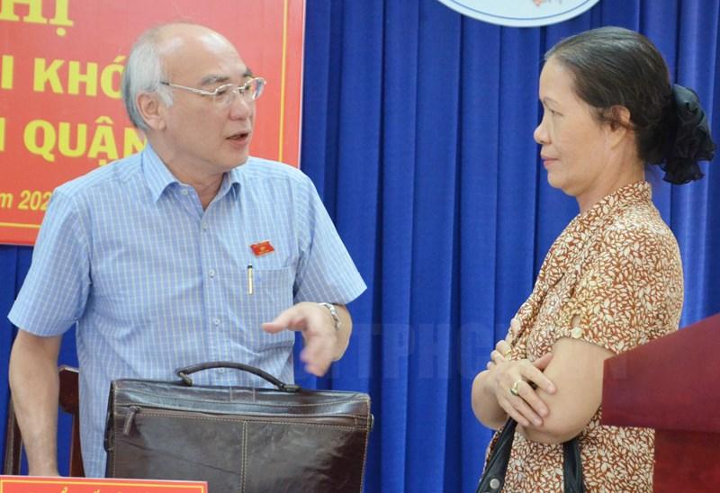 Trưởng Ban Tuyên giáo Thành ủy TPHCM Phan Nguyễn Như Khuê gặp gỡ cử tri Quận 9