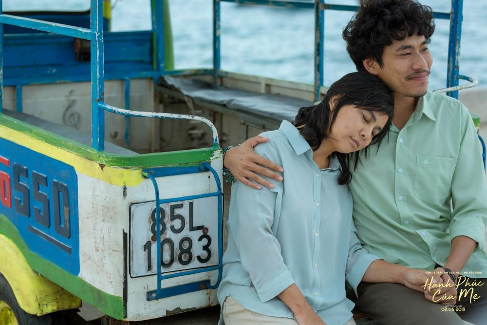 Cát Phượng và Kiều Minh Tuấn trên phim Hạnh phúc của mẹ.