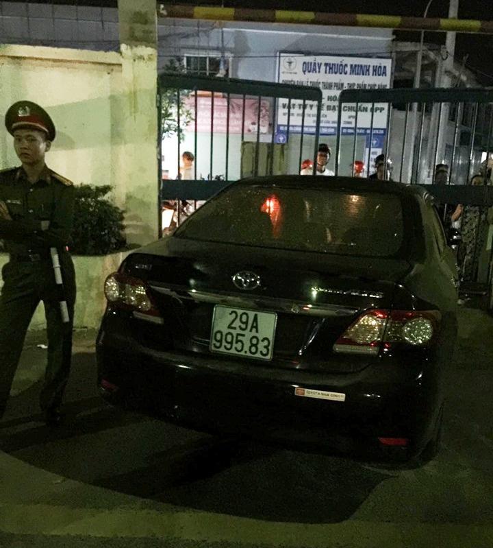 Hình ảnh chiếc xe gây tai nạn rồi bỏ chạy khỏi hiện trường - Ảnh: Dân Việt