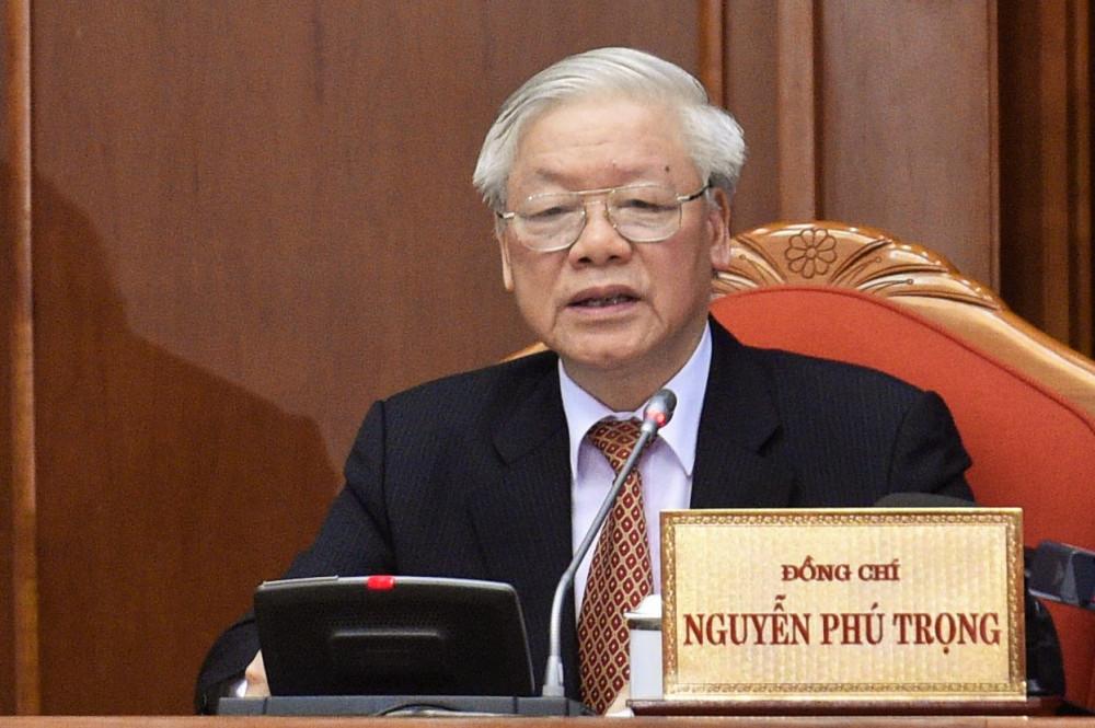 Tổng Bí thử, Chủ tịch nước Nguyễn Phú Trọng phát biểu tại phiên bế mạc
