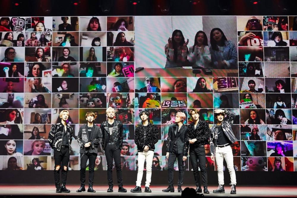 SuperM tương tác cùng người hâm mộ trong buổi trình diễn trực tuyến trong tháng 4.