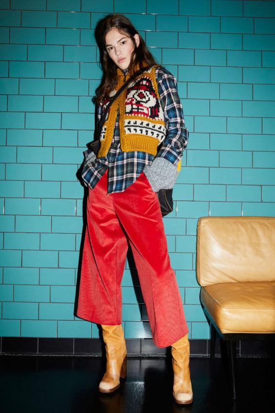 Mẫu quần culottes đến từ thương hiệu Disquared2.
