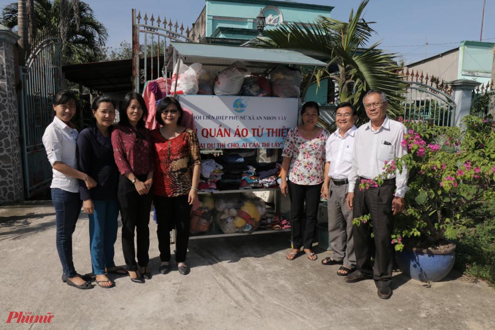 Mô hình 'Tủ quần áo từ thiện tại nhà chị Sử, ấp Lô 6, xã An Nhơn Tây.