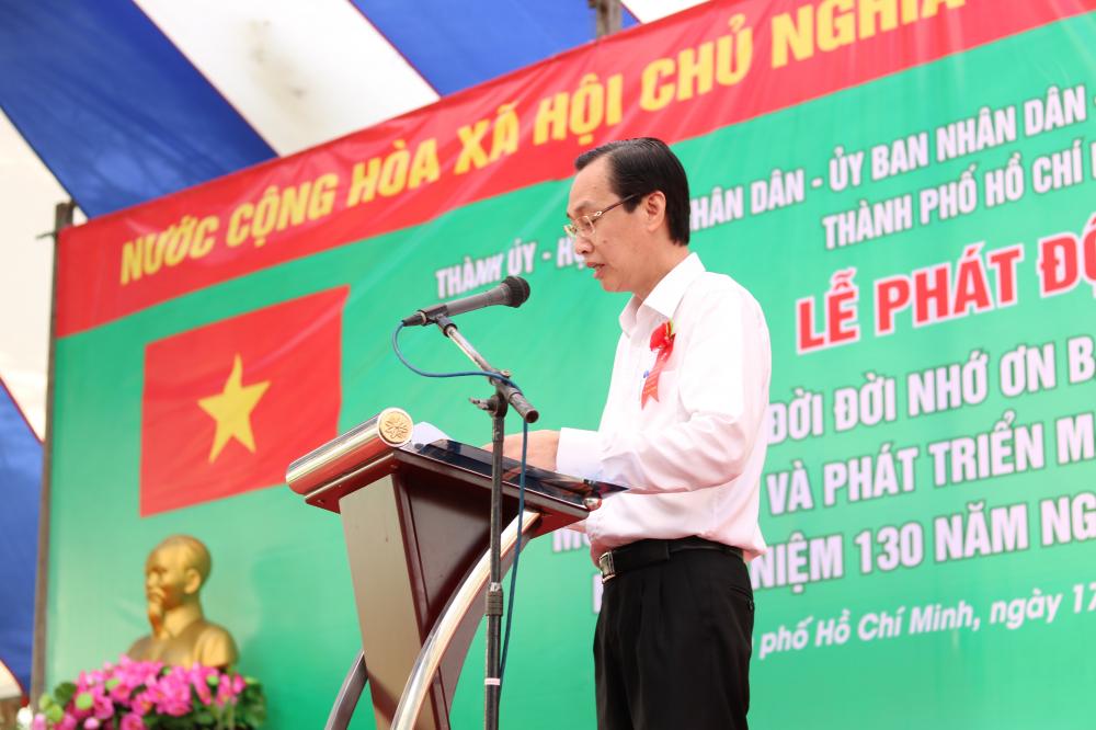 Phó chủ tịch Thường trực UBND TP.HCM Lê Thanh Liêm thông tin tình hình trồng rừng và cây xanh trong năm 2019, thông tin kế hoạch trồng cây trong năm 2020.