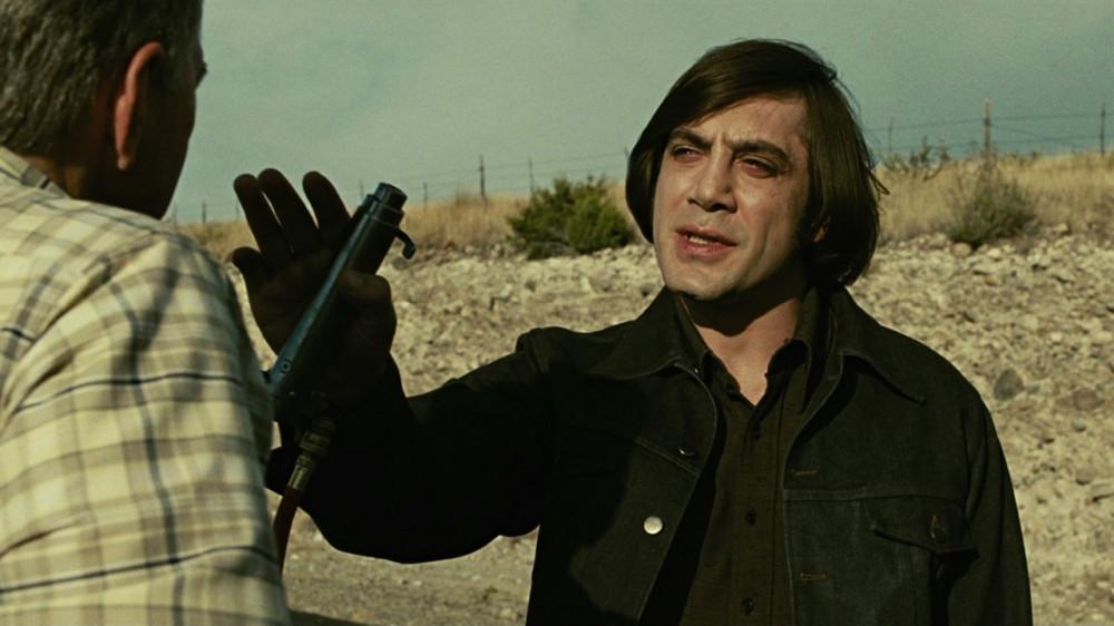 Diện mạo của Javier Bardem khi đóng No country for old men (2007).