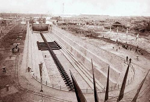 Một ụ tàu được xây dựng năm 1886 trong xưởng Ba Son - Ảnh tư liệu
