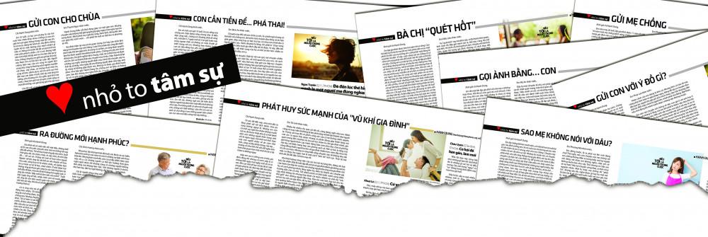 Mục Nhỏ to tâm sự của Hạnh Dung trên báo Phụ Nữ