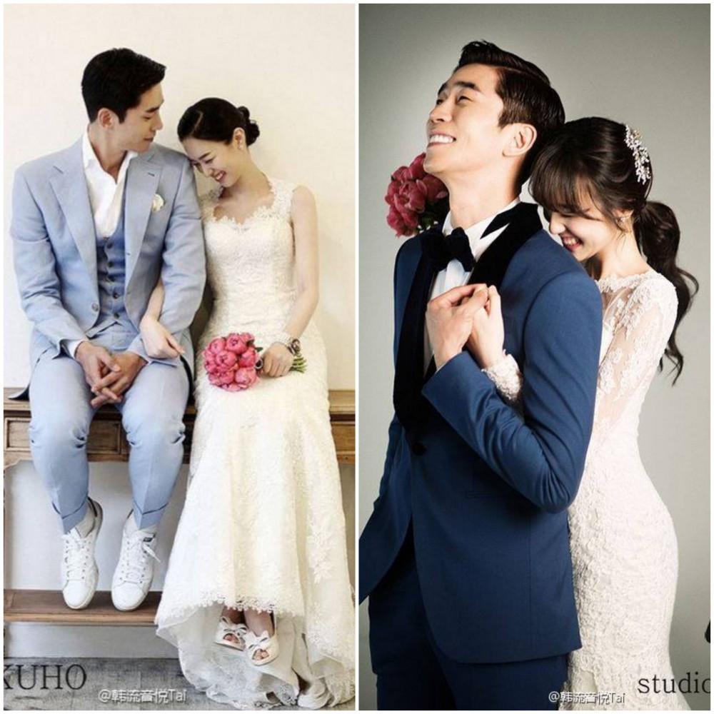 Shin Sung Rok hạnh phúc bên vợ.