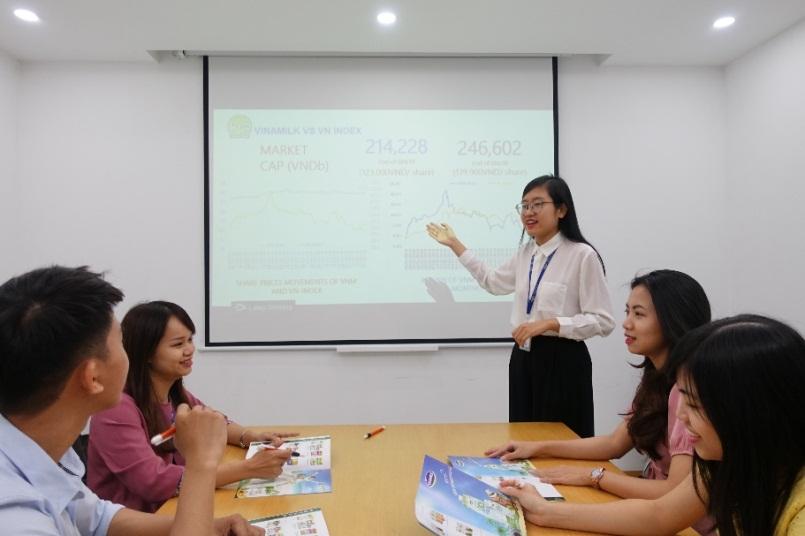 Đội ngũ nhân sự trẻ được tạo điều kiện để phát triển và thử thách bản thân với những vị trí quản lý trong Vinamilk. Ảnh: Vinamilk