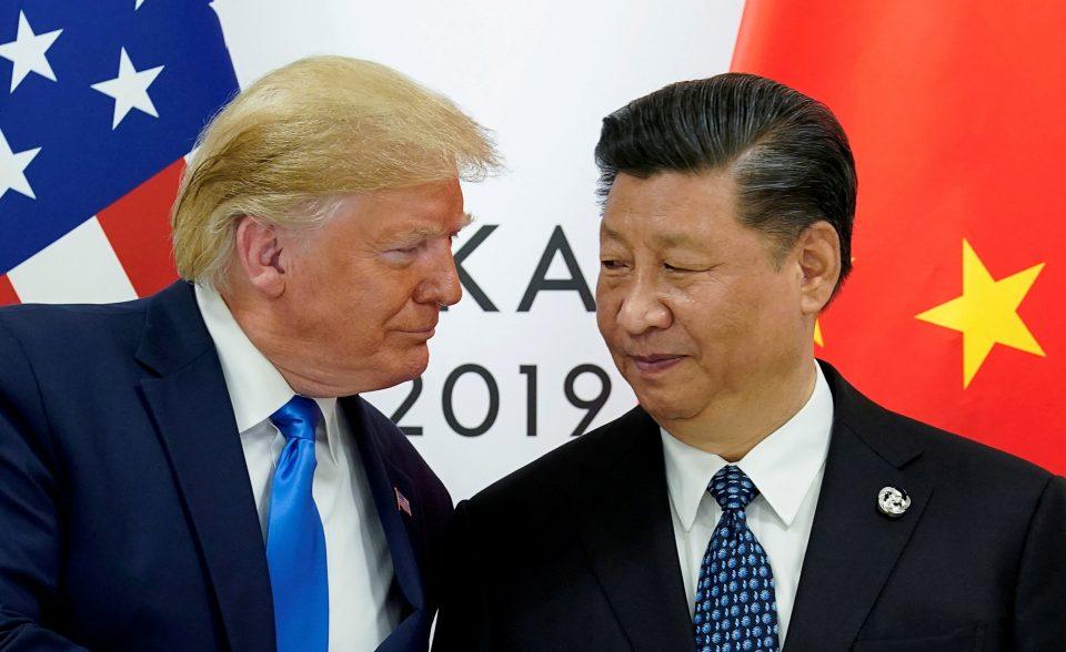 Tổng thống Mỹ Donald Trump và Chủ tịch Trung Quốc Tập Cận Bình. Quan hệ giữa các quốc gia tương ứng đã xấu đi nhanh chóng trong những tháng gần đây