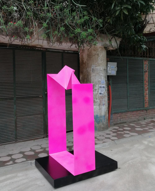 Một tác phẩm của nhà điêu khắc Lê Thị Hiền