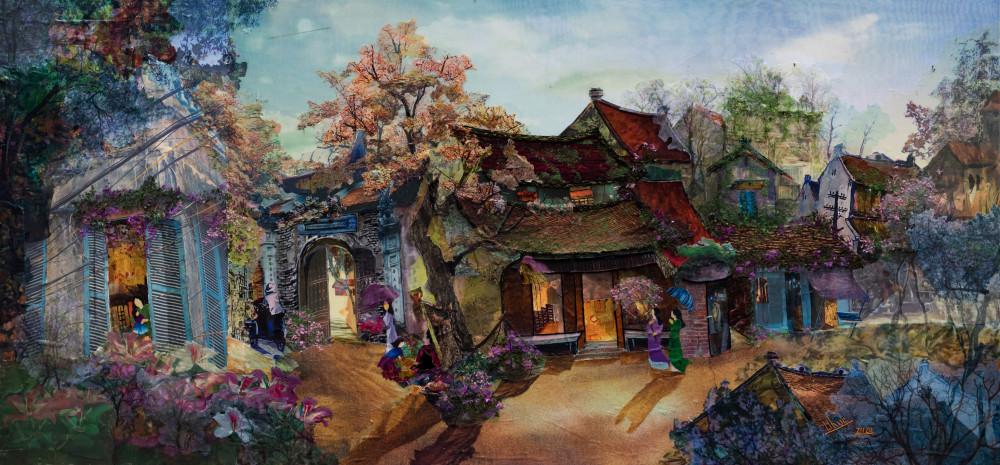 Một tác phẩm của họa sỹ Trần Thanh Thục