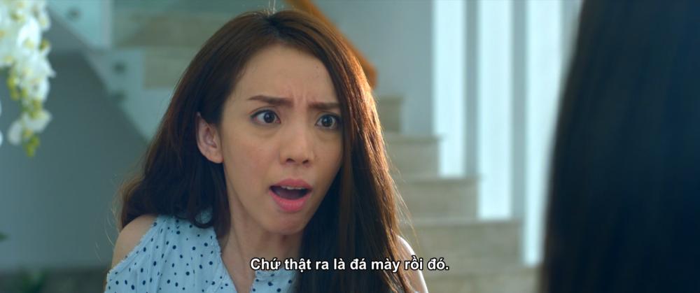 Thu Trang đóng vai chuyên gia tư vấn tâm lý cho cô bạn thân trên phim.