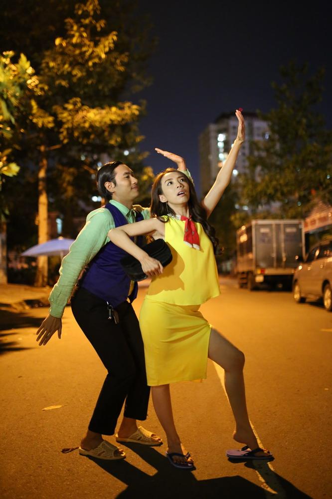Thu Trang và Kiều Minh Tuấn đảm nhận dang vai hài hước.