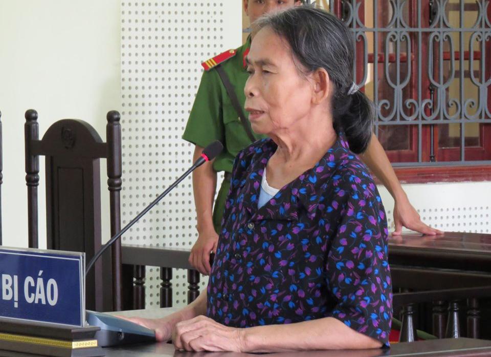 Bị cáo Phạm Thị Hường tại phiên tòa