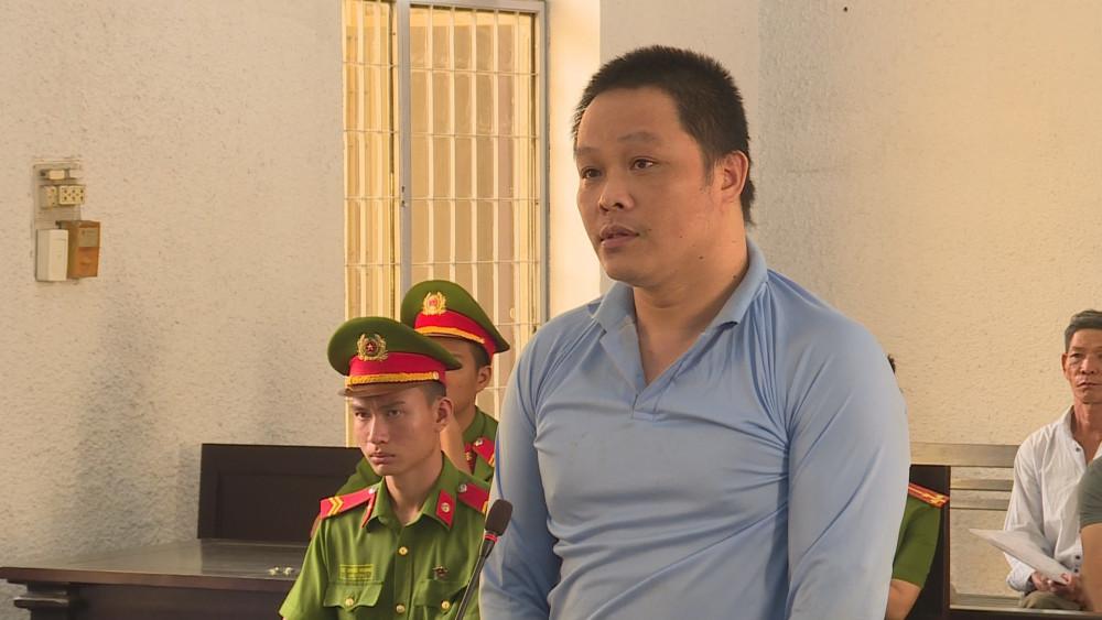 Bị cáo Đặng Văn Thụ tại phiên tòa