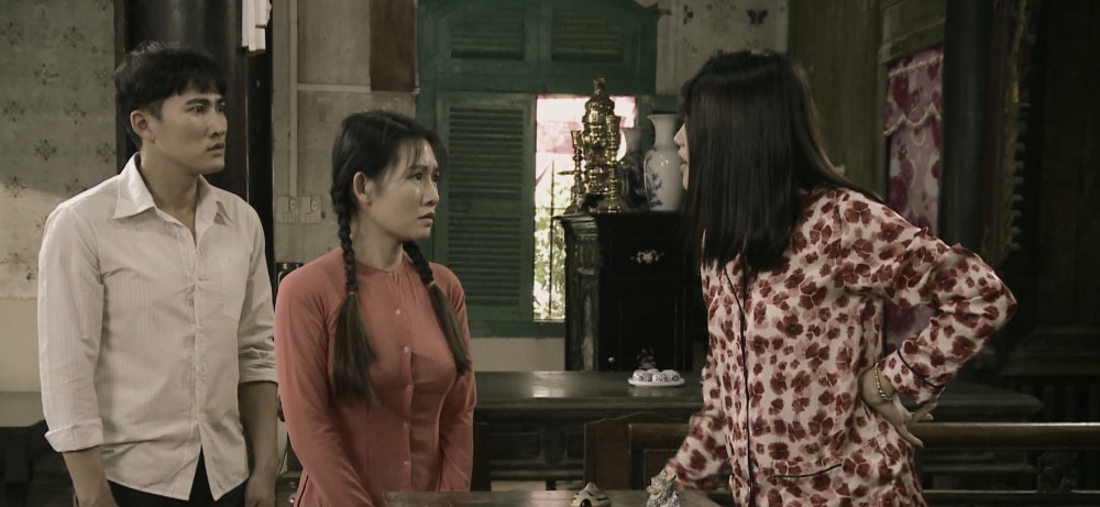 Từ trái sang: Hà Trí Quang, Văn Phượng và Lyna Trang đảm nhận vai các nhân vật thời trẻ