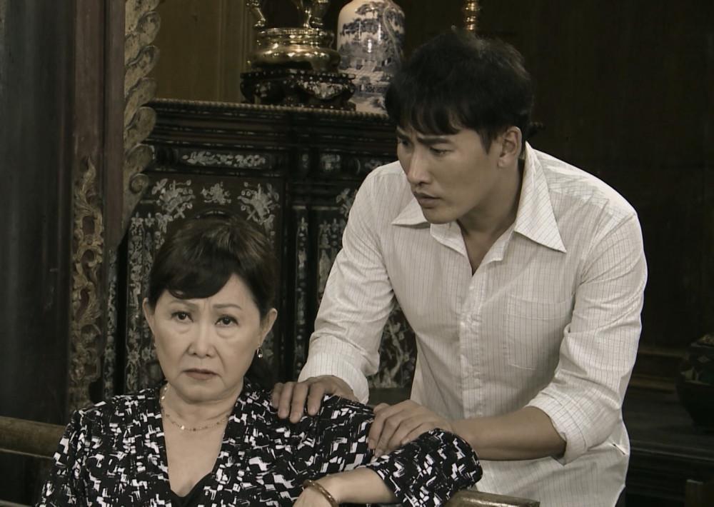 NSƯT Minh Hạnh và diễn viên Hà Trí Quang trong phim Mẹ ghẻ