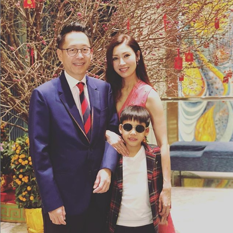Gia đình hạnh phúc gồm 3 thành viên của Lý Gia Hân