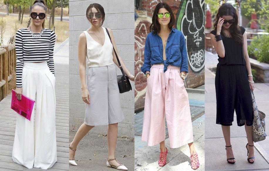 Những chiếc culottes ngày nay, đa dạng về kiểu dáng, chiều dài, chất liệu
