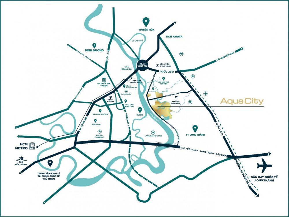 Dự án sở hữu vị trí đắc địa nằm trên tuyến giao thông huyết mạch tại phía Đông TP.HCM