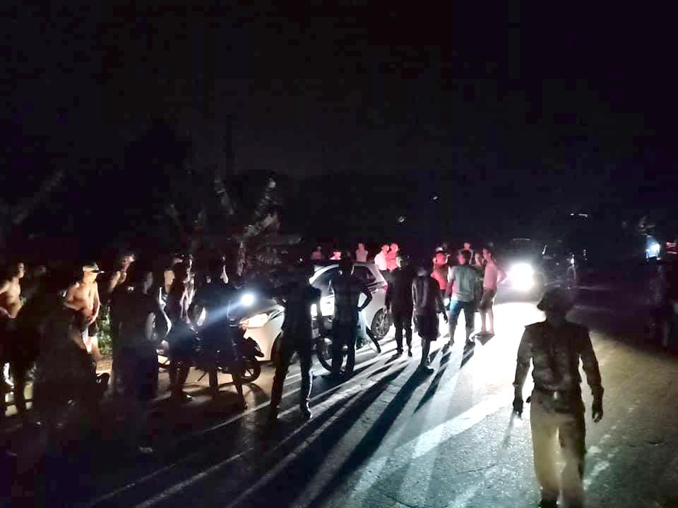 Nam tài xế bị lực lượng chức năng bắt giữ sau khi bỏ chạy quãng đường hơn 3km