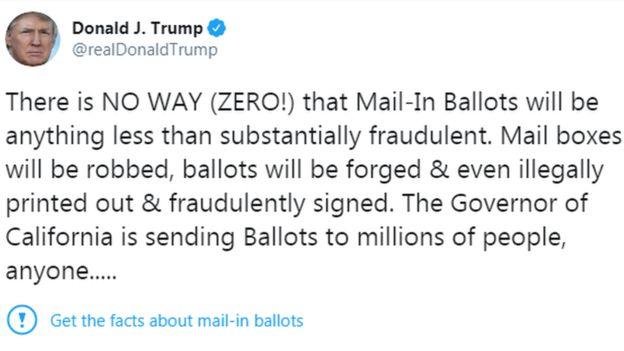 Twitter dán nhãn cảnh báo bài đăng của Tổng thống Trump.