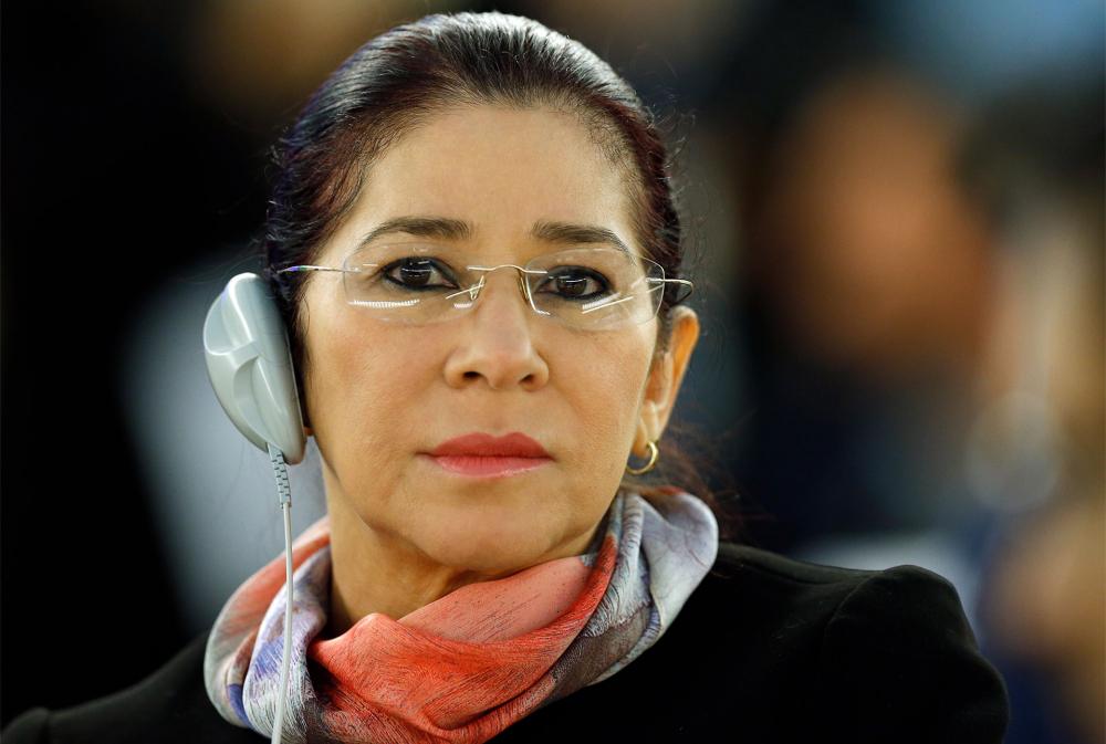 Bà Flores tham dự một khóa họp của LHQ tại Geneva năm 2015 - Ảnh: Reuters