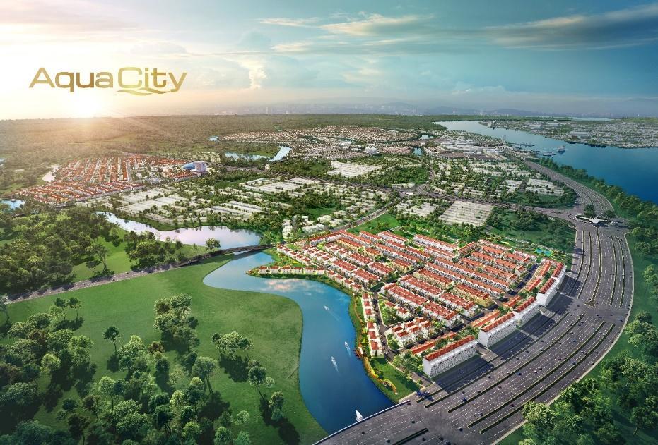 Phân khu River Park 1 thuộc khu đô thị sinh thái thông minh Aqua City quy mô gần 1.000ha ở phía Đông TP.HCM mang lại giá trị sống sinh thái đẳng cấp cho cư dân.