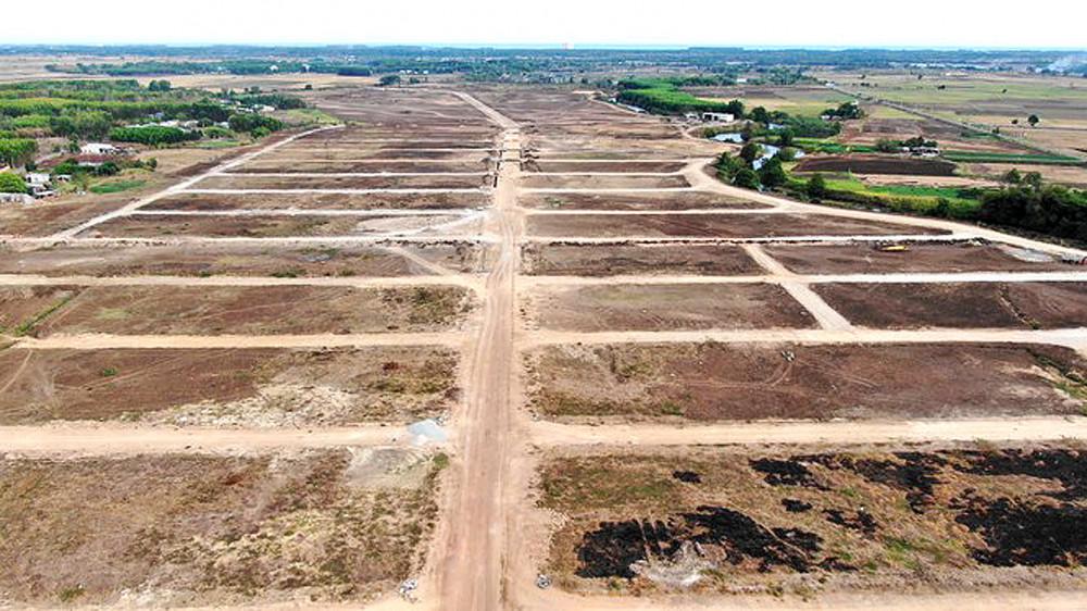 Dự án đang làm các con đường để rao bán