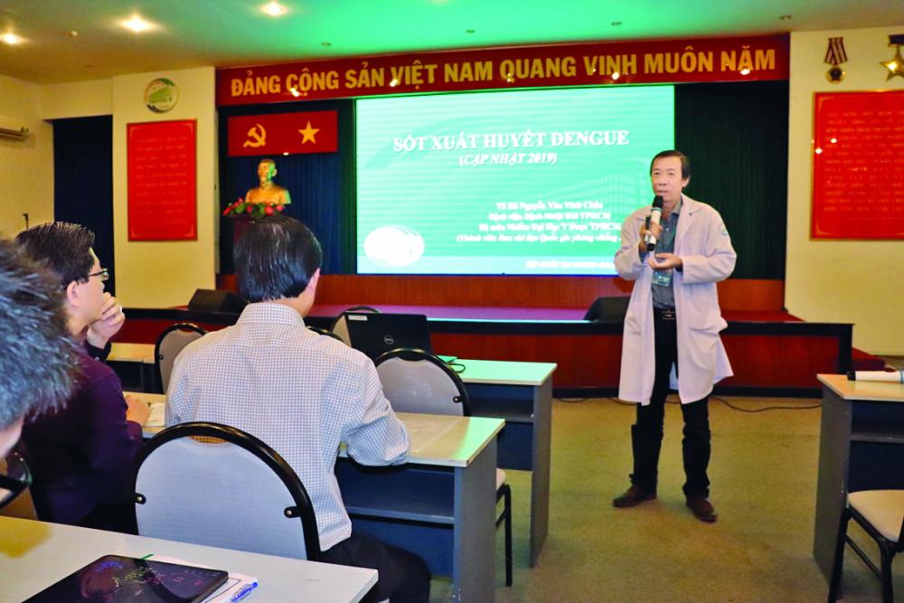 Tập huấn chẩn đoán và điều trị bệnh sốt xuất huyết trên người lớn tại Bệnh viện Bệnh nhiệt đới TP.HCM