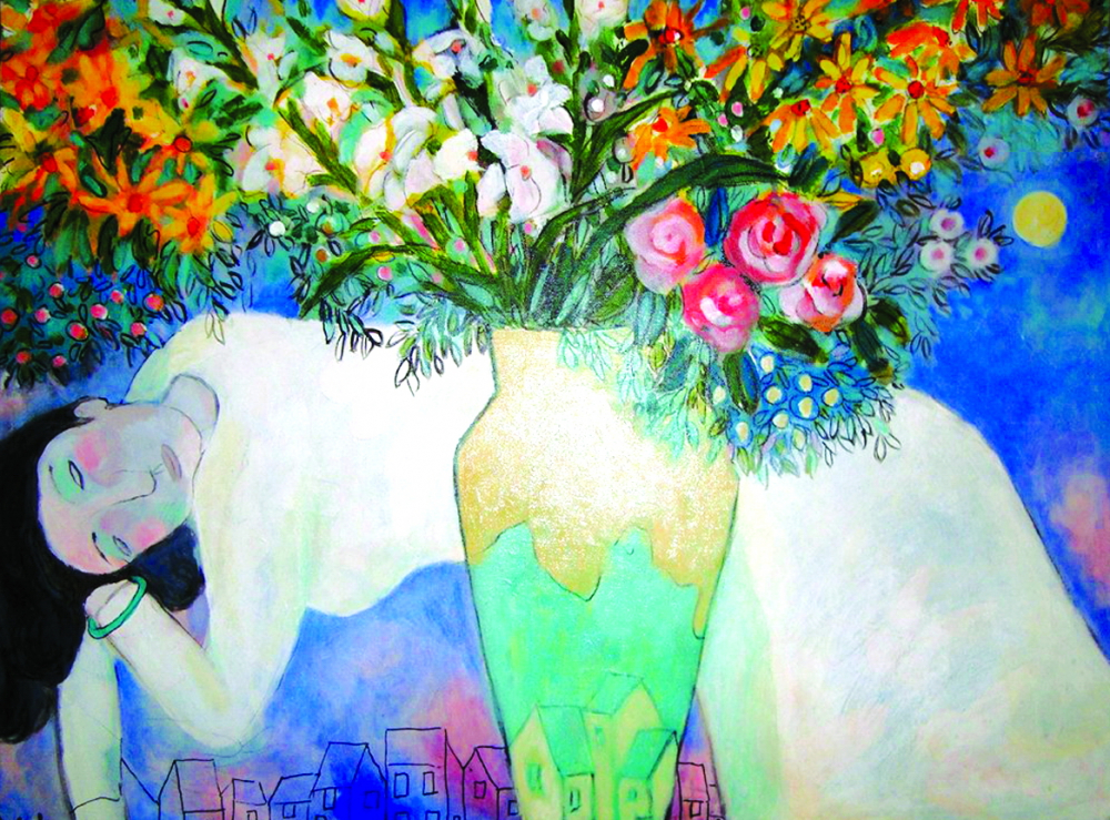 Tranh của họa sĩ Đặng Dương Bằng có sự kết hợp tài tình giữa phong cách của các danh họa châu Âu thời Phục hưng và nét hài hòa của mỹ thuật Đông Dương