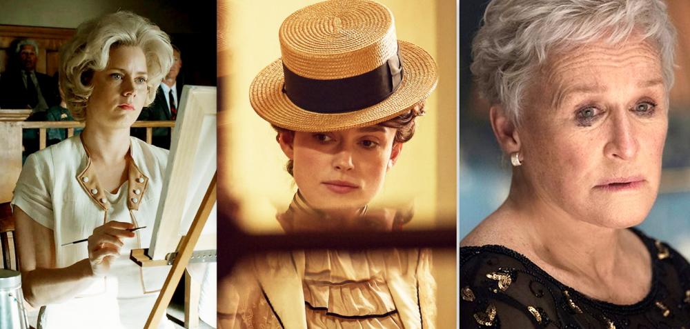 Từ trái qua: các nhân vật Margaret Keane, Colette, Joan Casteld với sự diễn xuất tài tình của ba minh tinh  Amy Adams, Keira Knightley và Glenn Close