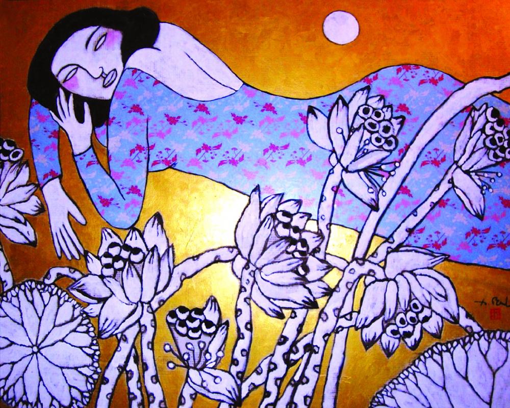 Xuyên suốt các tác phẩm của họa sĩ Đặng Dương Bằng là mạch nguồn trong trẻo, niềm lạc quan
