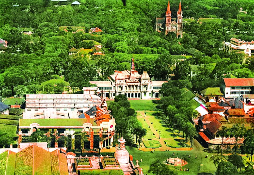 """Quy hoạch của người Pháp đã giữ vùng sinh thái cho """"thị trấn trong rừng"""", giúp hạ nhiệt một thành phố nắng gió - Ảnh: Saigon Viewers"""